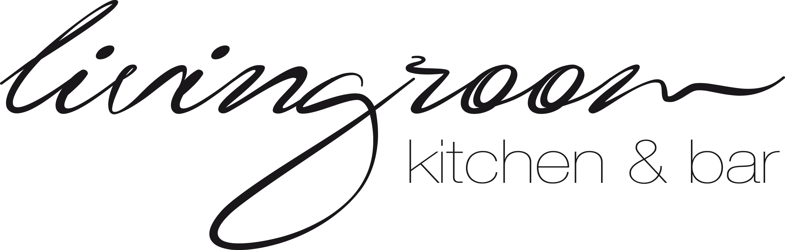 living room - kitchen & bar