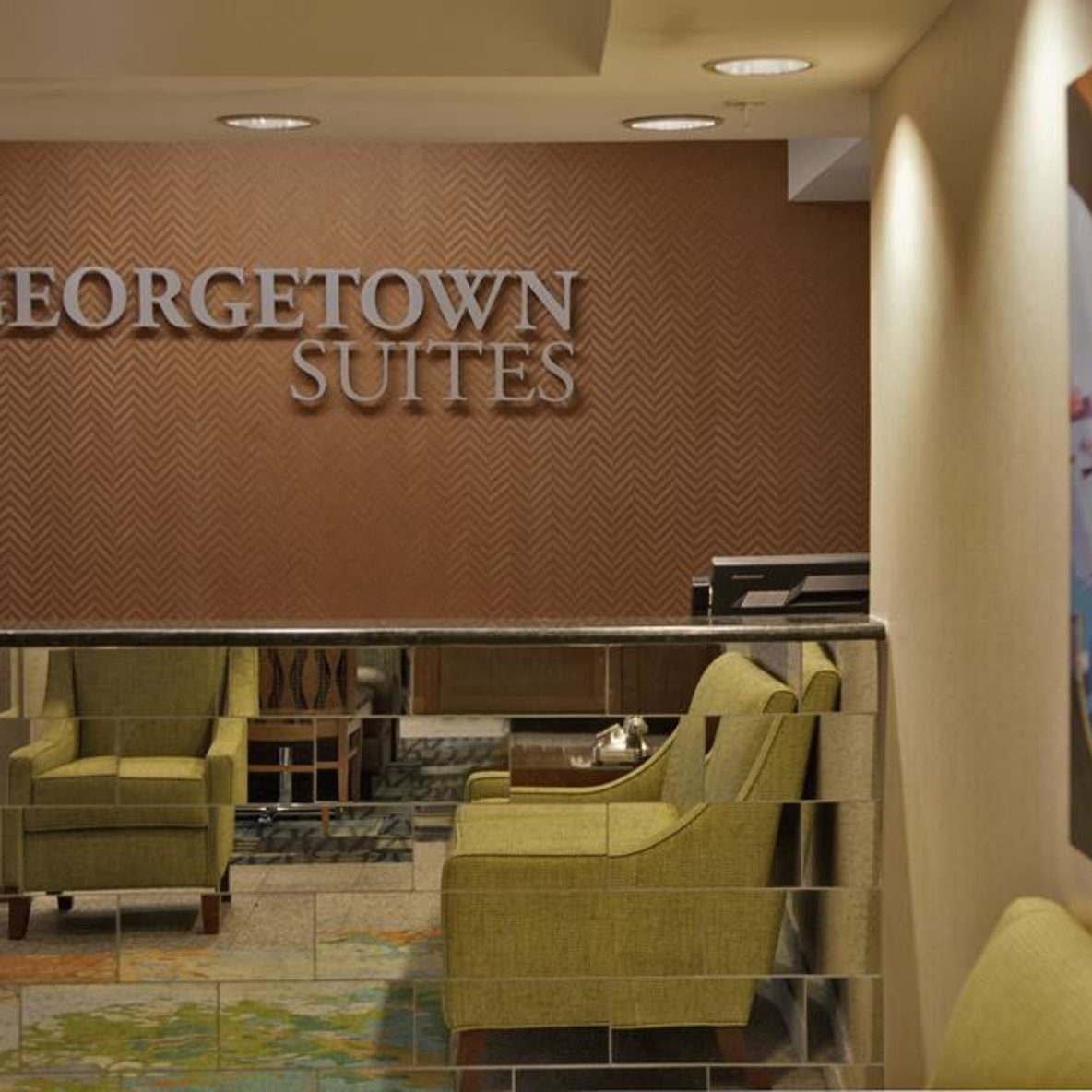 Georgetown Suites lobby seating
