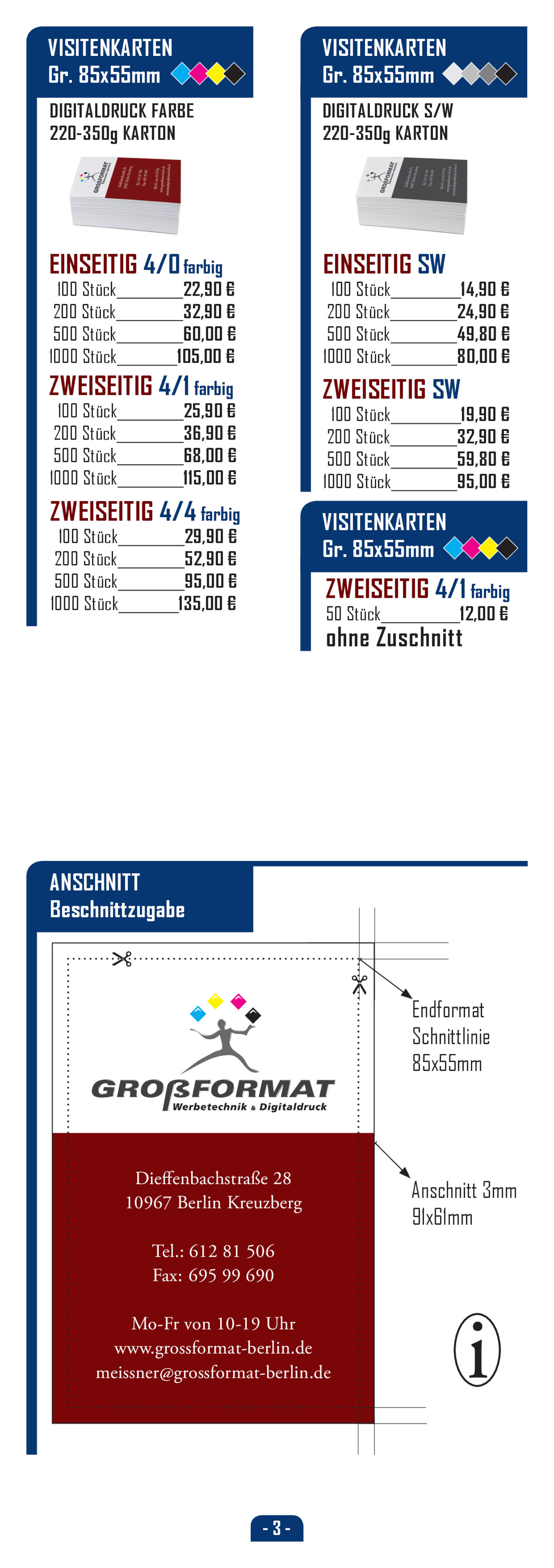 GROßFORMAT Berlin - Druck- und Kopier-Service in Berlin