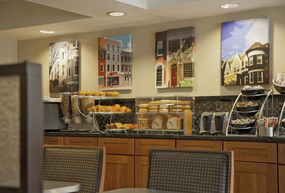 Free breakfast at the Georgetown Suites Hotel