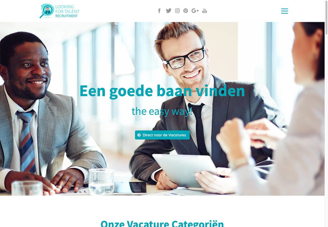Website voorbeeld recruitment