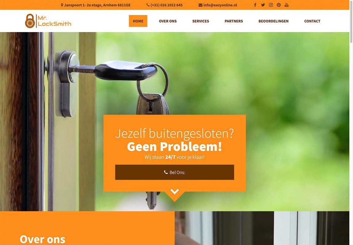 Website voorbeeld sleutelmaker