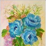 Nr. 61, blauer Traum, Größe 50 x 40 cm