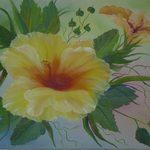 Nr. 3, Hibiskus, Größe 45 x 65 cm