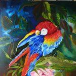 Nr. 63, Papagei, Größe 60 x 50 cm