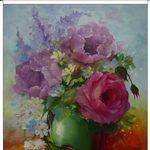 Nr. 40, Rosen Vase grün, Größe 50 x 40 cm