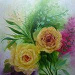 Nr. 26, Rosen in gelb, Größe 50 x 40 cm, verkauft