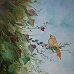 Nr. 16, hungriges Vögelchen, Größe 50 x 40 cm