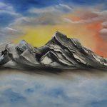 Nr. 47, Berge, Größe 40 x 60 cm