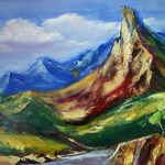 Nr. 55, Berge, Größe 50 x 70 cm