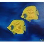 Nr. 4, Maskenfalterfische, Größe 30 x 40 cm