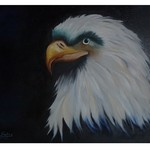 Nr. 9, Weißkopfseeadler, Größe 50 x 60 cm, verkauft