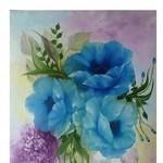 Nr. 14, blauer Mohn, Größe 40 x 50 cm, verkauft