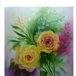 Nr. 26, Rosen in Gelb, Größe 50 x 40 cm