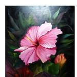 Nr. 25, Hibiskus, Größe 50 x 40 cm