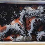 Nr. 5, Kunstharz, mit weißem Rahmen, Größe 21 x 29 cm