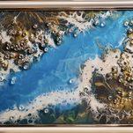 Nr. 6, Kunstharz, mit weißem Rahmen, Größe 21 x 29 cm