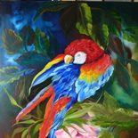 """Nr. 63 """"Papagei"""" Größe 60x50 cm"""