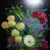 """Nr. 18 """"Blumenbukett"""" Größe 50x40 cm"""