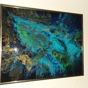 Nr. 1 acryl pouring mit Resin Größe 40x50 cm