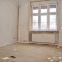 Altbausanierung Berlin Pankow Wohnzimmer (vorher)