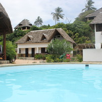 view from pool to house Tembo right
