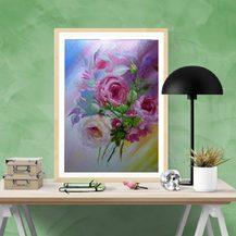 """Nr. 48 """"Blumen"""" Größe 50x40 cm"""