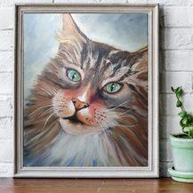 "Nr. 78 ""Katze"" Größe 60x50 cm"