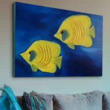 """Nr,  4 """"Maskenfalterfische"""" Größe 30x40 cm"""
