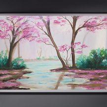 """Nr. 67 """"Wald im Erwachen"""" Größe 40x50 cm"""