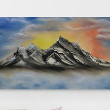 "Nr. 47 ""Berge"" Größe 40x60 cm"