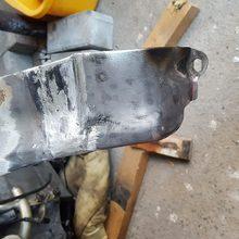 Reparatur des rechten Kotflügel.schweißen,schleifen ,verzinnen