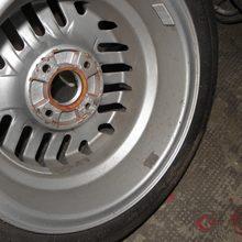 Reparierter Lack nach dem Bremsflüssigkeitsschaden.
