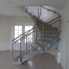 Edelstahl-Designtreppe