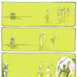 "Comic-""Der letzte Elefant"""