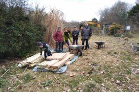 Aufbau der Waldschänke