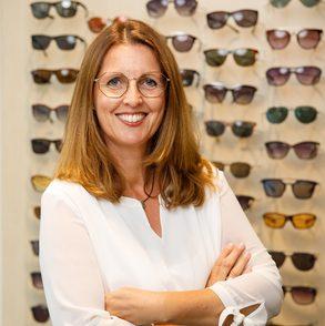 Augenoptikerin Andrea Puke