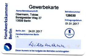 Öltankentsorgung Klaus Obermann Berlin - Gewerbekarte