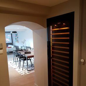 Wand integrierter Weinklimaschrank