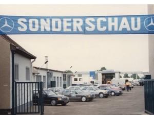 Vertragsaufnahme Mercedes-Benz im Stammbetrieb Oranienbaum-Wörlitz 1990