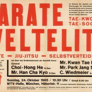 Plakat einer Karate-/Taekwondo-Vorführung 1965