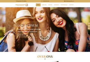 Website voorbeeld beauty