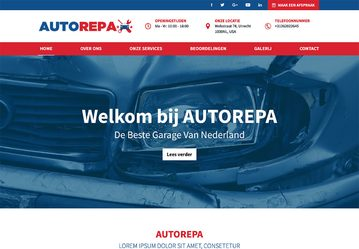 Website voorbeeld garage