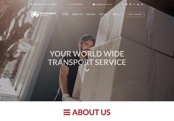 Website voorbeeld transport