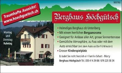 Das Berghaus Höchgütsch in Unteriberg