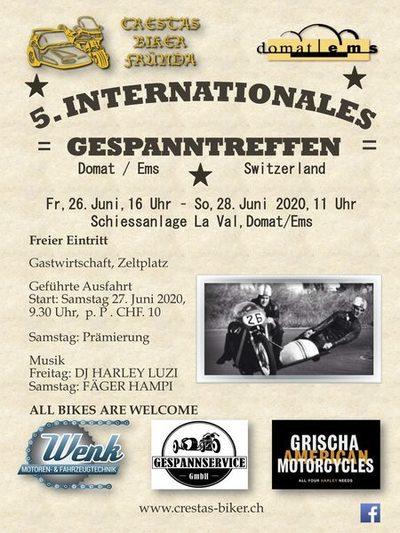 Crestas Bikers Ybriger Eisgenossen Treffen Motorrad Seitenwagen GespanntreffenDomat Ems