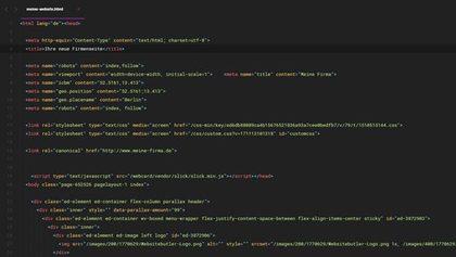 Website Programmierung