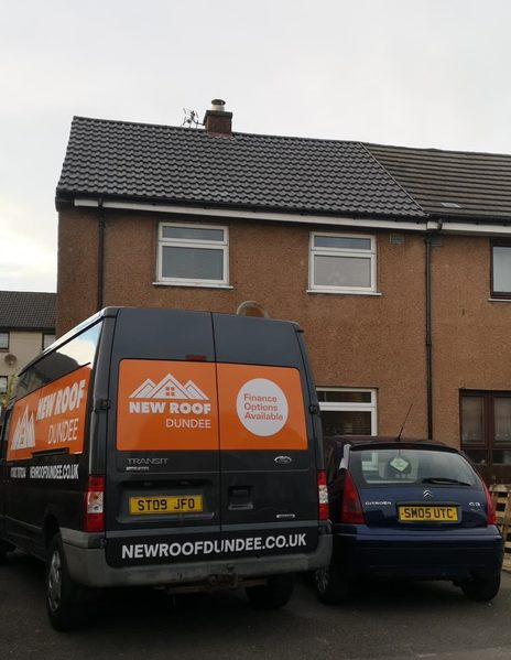 New Roof Dundee Van (Roofers) at Customers Property