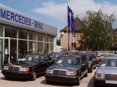 Eröffnung Autohaus Moll in der Barbarastraße Lutherstadt Wittenberg 1991