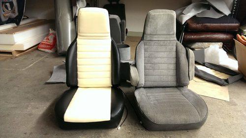Sitze Pontiac vorher / nachher